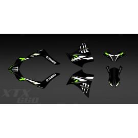 Kit déco 100% Perso Monster (vert) pour Yamaha 660 XT (2000-2007)-idgrafix