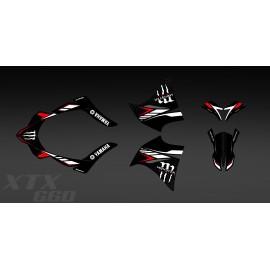 Kit déco 100% Perso Monster (Rouge) pour Yamaha 660 XT (2000-2007)-idgrafix