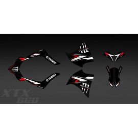 Kit deco 100% meu Propi Monstre (Vermell) per a Yamaha XT 660 (2000-2007) -idgrafix