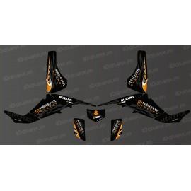 Kit deco 100% la mia Monster (Arancione) - IDgrafix - Suzuki LTZ 400 -idgrafix