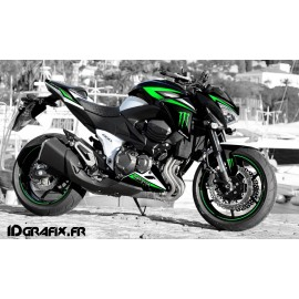 Kit décoration 100% Perso Monster series - Kawasaki Z800 (2012-2016)-idgrafix