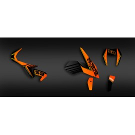Kit décoration Feature series (Orange) - KTM 690 Duke (2012-2017)-idgrafix