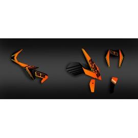 Kit dekor Feature series (Orange) KTM 690 Duke (2012-2017) -idgrafix