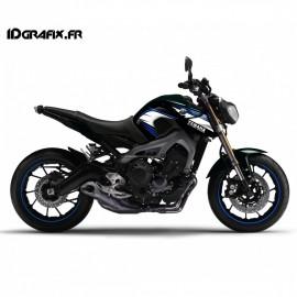 Kit decoration Light Racing blue-and-white - IDgrafix - Yamaha MT-09-idgrafix