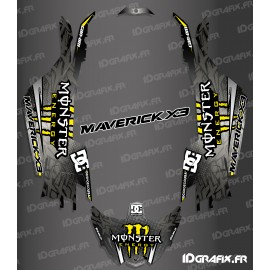 Kit decorazione Serie DC - Giallo Idgrafix - Can Am Maverick X3 -idgrafix