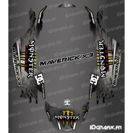Kit de decoración de DC de la Serie de Oro - Idgrafix - Can Am Maverick X3