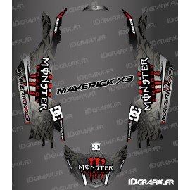 Kit décoration DC Series Rouge - Idgrafix - Can Am Maverick X3-idgrafix