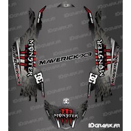 Kit de decoració DC Sèrie Vermella - Idgrafix - Am Maverick X3 -idgrafix