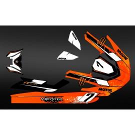 Kit deco 100% meu propi Monstre (taronja) - Yamaha-FX (després del 2012) -idgrafix
