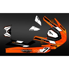 Kit deco 100% perso Monster (orange) - Yamaha FX (après 2012)-idgrafix