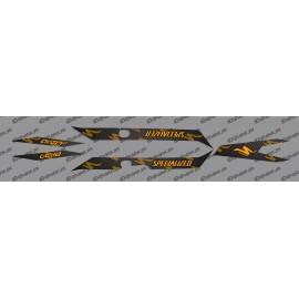 Kit deco CARBONI Edició de Llum (Taronja)- Especialitzada Turbo Levo -idgrafix