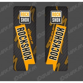 Adesivi Protezione Forcella RockShox Carbonio (Arancione) - Specialized Turbo Levo -idgrafix