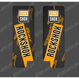 Adhesius De Protecció De Forquilla RockShox De Carboni (Taronja) - Especialitzada Turbo Levo -idgrafix