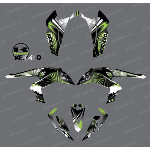 Kit de decoración de Reptil Verde - IDgrafix - Kawasaki KFX 450R