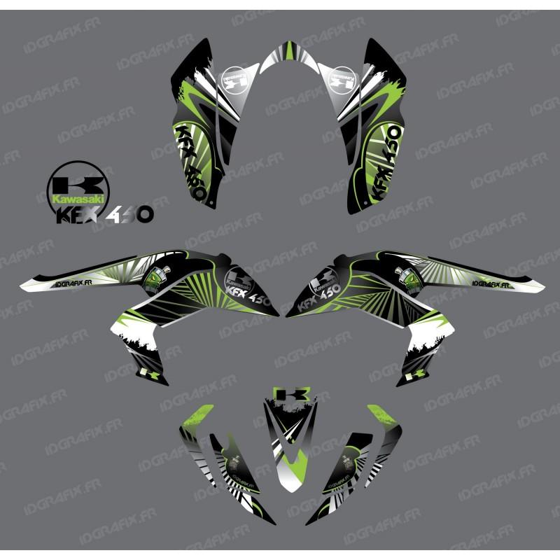 Kit decoration Reptile Green - IDgrafix - Kawasaki KFX 450R-idgrafix