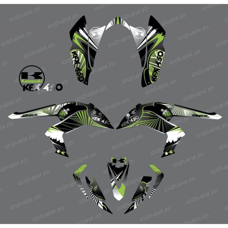 Kit decoration Reptile Green - IDgrafix - Kawasaki KFX 450R