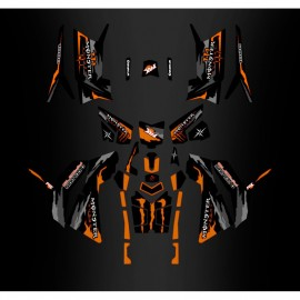 Kit décoration Monster Orange Edition (Full) - IDgrafix - Polaris 850/1000 Scrambler-idgrafix