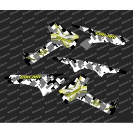 Kit de decoración de Camuflaje de la Serie - Parte-Lat - IDgrafix - Can Am Renegade XXC -idgrafix