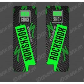 Adesivi Protezione Forcella RockShox Carbonio (Verde) - Specialized Turbo Levo -idgrafix