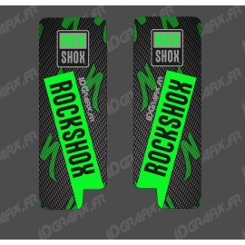 Stickers Protection Fourche RockShox Carbon (Vert) - Specialized Turbo Levo-idgrafix