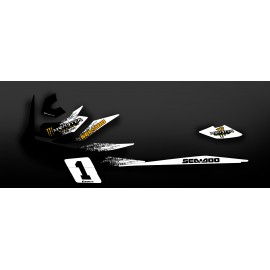 Kit de décoration Monstre Blanc/Taronja (Medium) - per Seadoo GTI -idgrafix