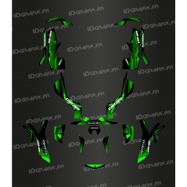 Kit decoration Full 100% Custom Monster Edition (Green) - IDgrafix - Can Am Outlander (G1)-idgrafix