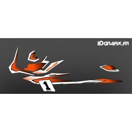 Kit de decoració Cursa de color Taronja (de la Llum) - per Seadoo GTI -idgrafix