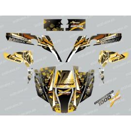 Kit décoration Cross Jaune - IDgrafix - Can Am 1000 Commander