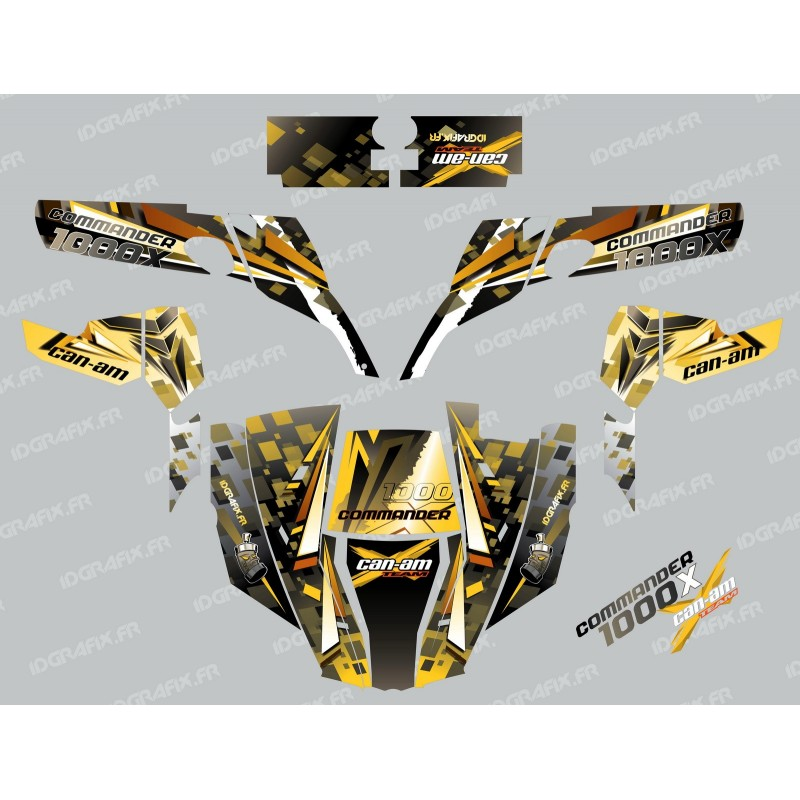 Kit decoration Cross Yellow - IDgrafix - Can Am 1000 Commander-idgrafix
