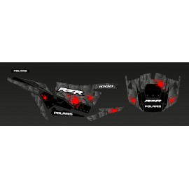 Kit decoration Steel Edition (Grey/Red)- IDgrafix - Polaris RZR 1000 S/XP-idgrafix