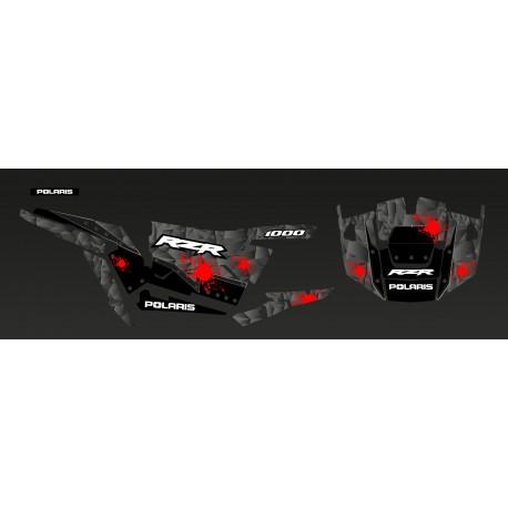 Kit décoration Steel Edition (Gris/Rouge)- IDgrafix - Polaris RZR 1000 XP-idgrafix