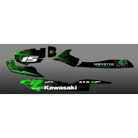 Kit decoration Digital Edition Green for Kawasaki STX 15F-idgrafix