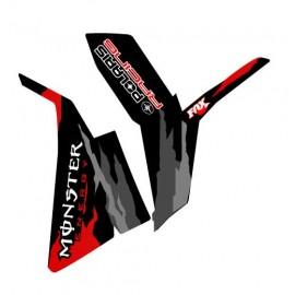 Réimpression sticker Scrambler Monster Rouge