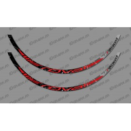 Lot 2 Stickers Brush Edition (Red) - Rim Roval