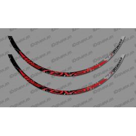 Lotto 2 Adesivi Pennello Edizione (Rosso) - Cerchio Roval -idgrafix
