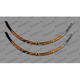 Lot 2 Stickers Brush Edition (Orange) - Rim Roval - IDgrafix