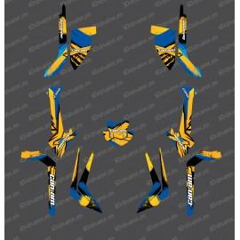 Kit de decoración de LÁTIGO de Luz Edition (Amarillo / Azul) - IDgrafix - Can Am Outlander (G2) -idgrafix