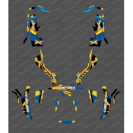 Kit de decoración, Llena de LÁTIGO Edición (Amarillo/Azul) - IDgrafix - Can Am Outlander (G1) -idgrafix