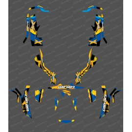 Kit decoration, Full WHIP Edition (Yellow/Blue) - IDgrafix - Can Am Outlander (G1)-idgrafix
