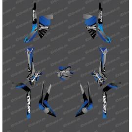 Kit de decoración de LÁTIGO de Luz Edition (Gris / Azul) - IDgrafix - Can Am Outlander (G2) -idgrafix