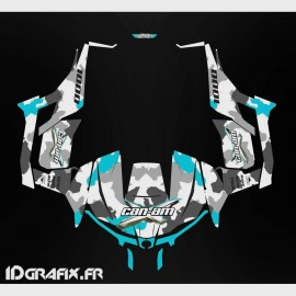 Kit décoration Army series (Bleu) - Idgrafix - Can Am 1000 Maverick