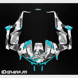 Kit de decoración de Ejército de la serie (Azul) - Idgrafix - Can Am 1000 Maverick -idgrafix