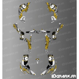 Kit decoration Skull Series Full (Yellow)- IDgrafix - Can Am Renegade-idgrafix