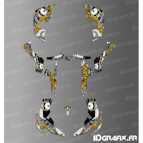 Kit decoration Skull Series Full (Yellow)- IDgrafix - Can Am Renegade-idgrafix