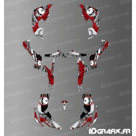 Kit décoration Skull Series Full (Rouge)- IDgrafix - Can Am Renegade-idgrafix