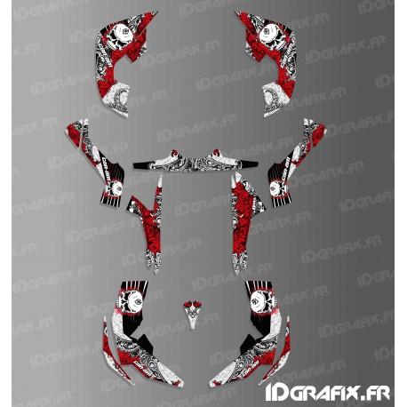 Kit decoration Skull Series Full (Red)- IDgrafix - Can Am Renegade-idgrafix