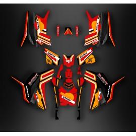 Kit de decoración de Repsol (serie Completa) - IDgrafix - Polaris 850/1000 Scrambler
