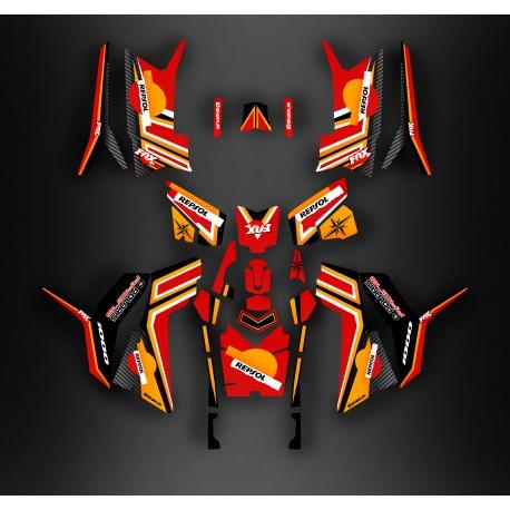 Kit décoration Repsol series (Full) - IDgrafix - Polaris 850/1000 Scrambler-idgrafix
