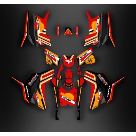 Kit decoration Repsol series (Full) - IDgrafix - Polaris 850/1000 Scrambler-idgrafix