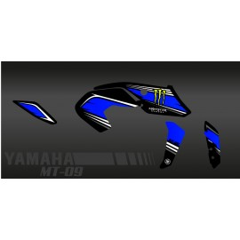 Kit decoration 100% Custom Monster blue - IDgrafix - Yamaha MT-09 (after 2017) - IDgrafix